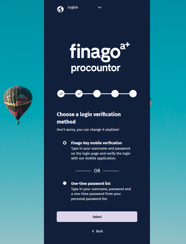 Finago Key mobile login – Procountor